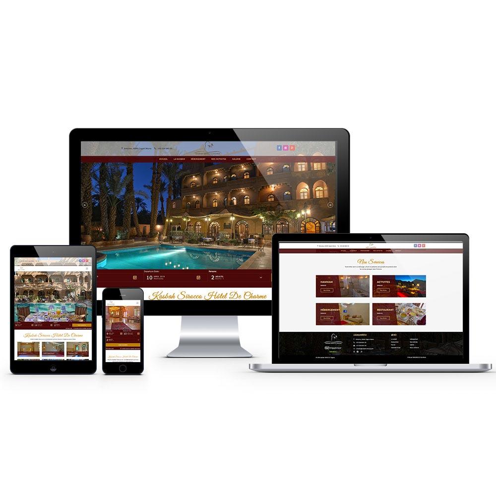 creation site internet kasba sirocco maroc