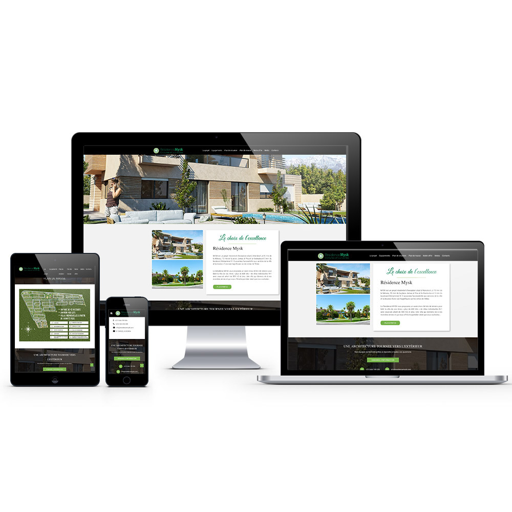 residence mysk web design