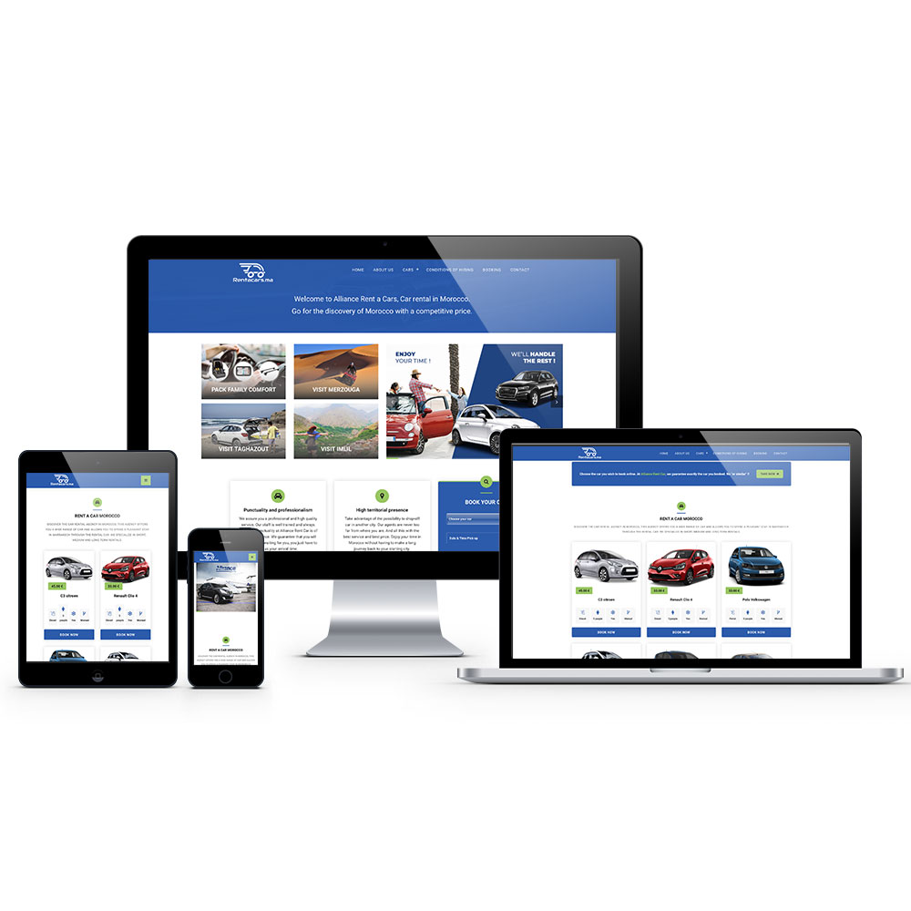 creation site internet rent a cars